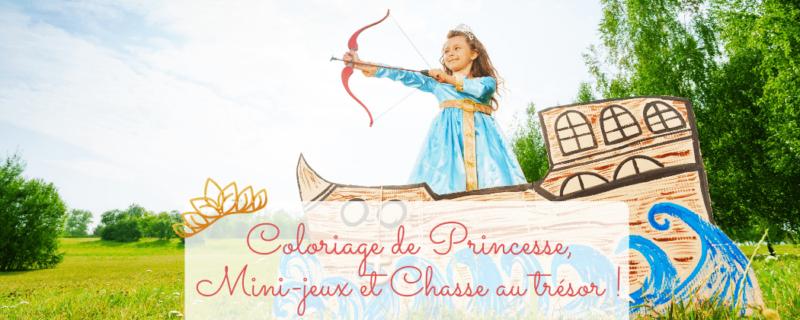 coloriage princesse gratuit
