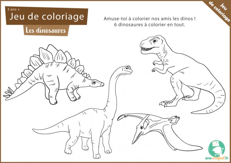 coloriage gratuit dinosaure jurassique