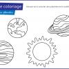 planete a colorier gratuit