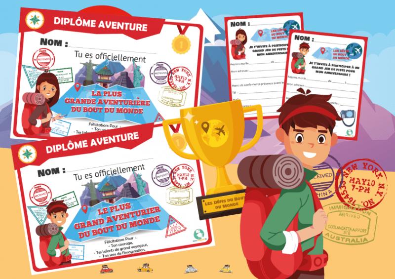 passeport voyageur a imprimer pour enfant