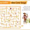 imprimer labyrinthe cow boy