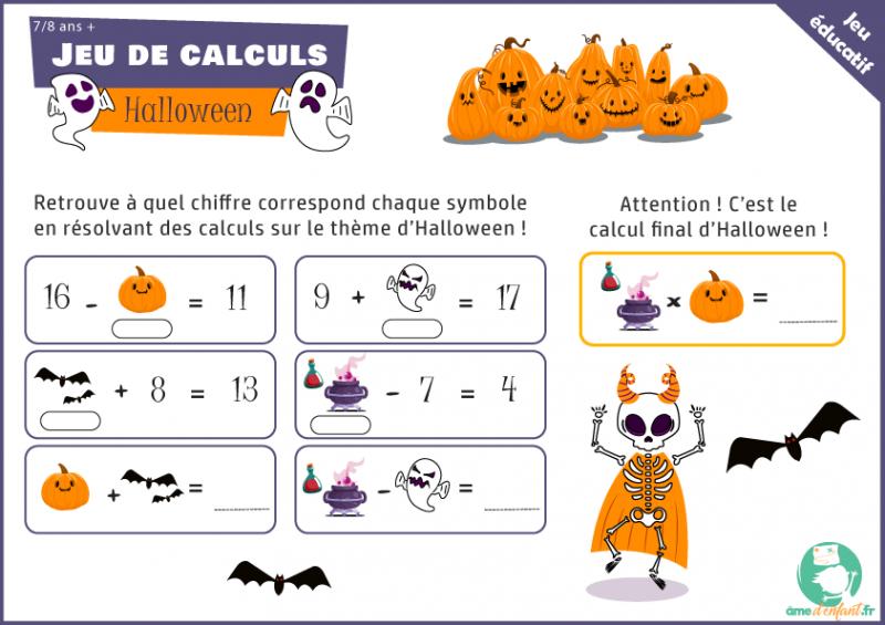 activite halloween pour enfant a imprimer